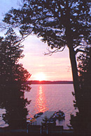Sunset at Sunset Bay Resort - Manitoulin Island